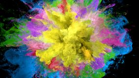 Color Burst - colorful smoke series of explosions fluid particles alpha matte