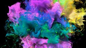 Color Burst - colorful yellow pink smoke explosion fluid particles alpha matte