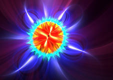 Color burst fractal Stock Image