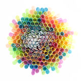 Color Burst I. A rainbow assortment of drinking straws Royalty Free Stock Photo
