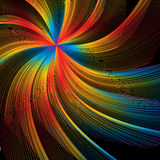 Color Burst Swirl. Swirls of rainbow colors are featured in an abstract background illustration stock illustration