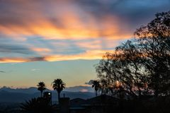 Color Burst Vibrant Copper Sunset stock image