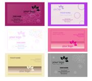 Color Business Cards  Stock Images