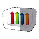 Color business data statistic graphic Royalty Free Stock Photo