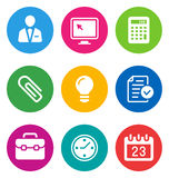 Color business icons Stock Images