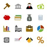 Color Business Icons Set Royalty Free Stock Photos