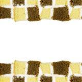 Color butter cake frame backdrop Stock Images
