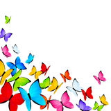 Color butterflies background with copy space Stock Photos