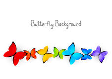 Color butterflies background Royalty Free Stock Image