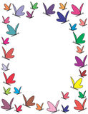 Color butterflies frame. Illustration Stock Images
