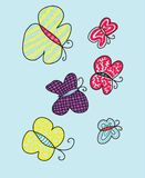 Color butterflies. In this picture represented butterflies, color,unique,artistic and hand drawn,vector,illustration,zentangle art color royalty free illustration