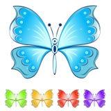 Color butterflies vector set Royalty Free Stock Photos