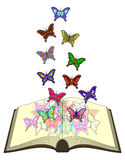Color butterfliess book Royalty Free Stock Photos