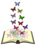 Color butterfliess book stock illustration