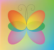 The color butterfly Royalty Free Stock Image