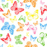 Color butterfly background royalty free illustration