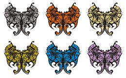 Color butterfly wings Stock Image