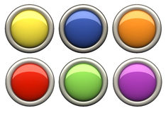 Color button. Set of color button with clipping path royalty free illustration