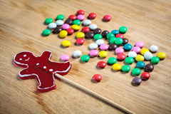 Color button candies Stock Images