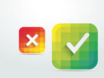 Color button web design icons Stock Photos