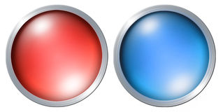 Color button on the white background Stock Images