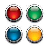 Color buttons Stock Photography