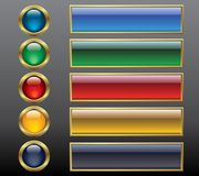 Color buttons. Royalty Free Stock Photos