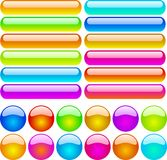 Color buttons. Color web buttons for web sites Royalty Free Stock Image