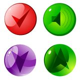 Color buttons Stock Photo