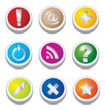 Color buttons. Vector illustration for you design Stock Image