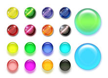 Color buttons. Big collections of 3d color web buttons Stock Photos