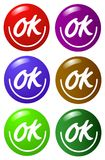 Color buttons Royalty Free Stock Images