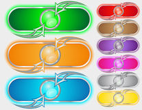 Color buttons. Set of color buttons , various application Stock Images