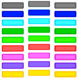 Color buttons. On white background. Illustration Royalty Free Stock Photos