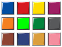 Color buttons. Vector illustration of colorful buttons Royalty Free Stock Image