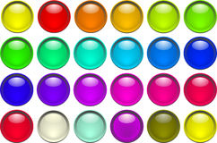 Color buttons. Many color buttons illustration royalty free illustration