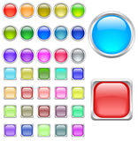 Color buttons. Big set of color buttons vector illustration