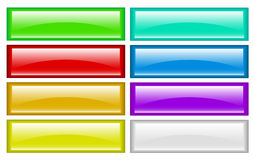 Color buttons. Many color buttons  illustration Stock Photos