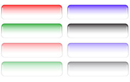 Color buttons. Many color web shiny buttons royalty free illustration