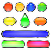 Color buttons. Realistic color buttons. vector illustration Royalty Free Stock Image