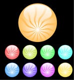 Color buttons on black. Many color buttons on black vector illustration