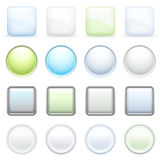Color buttons for internet, set 2. Royalty Free Stock Photos
