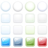 Color buttons for internet, set 3. Stock Images
