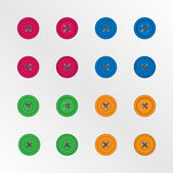 Color buttons isolated. Vector eps10 Stock Images