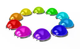 Color buttons over white background Royalty Free Stock Photos