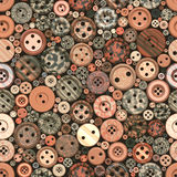 Color Buttons Seamless Vintage Pattern Stock Photo