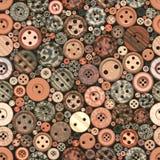 Color Buttons Seamless Vintage Pattern. Random Color Buttons Seamless Vintage Pattern Stock Photo