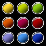 Color buttons set Royalty Free Stock Image