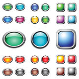 Color buttons set. Royalty Free Stock Photos