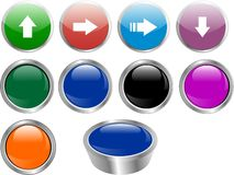 Color buttons vector Royalty Free Stock Images